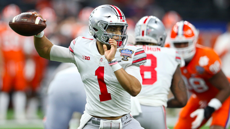 Justin Fields, quarterback for the Ohio State Buckeyes